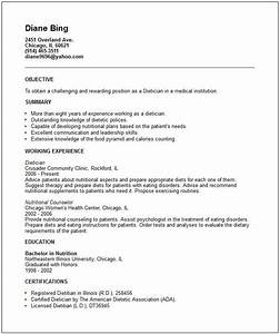 nutritionist resume examples google search resume With dietitian resume