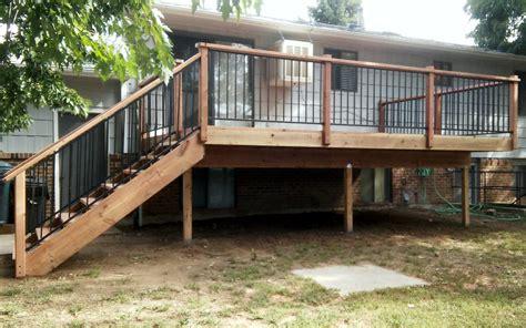 wood decks  metal rail gallery colorado springs