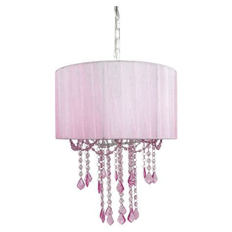 Light Pink Chandelier by Tadpoles 1 Light Pink Chandelier Shade Cchash004 The