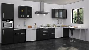 awesome modular kitchen designs black and white photos With modular kitchen designs black and white