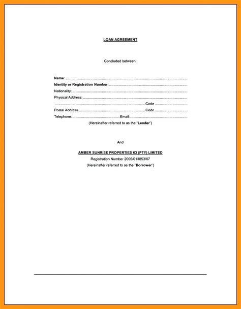 iou contract form sle iou forms design templates