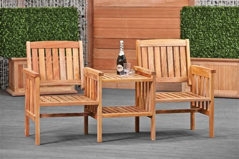 houten loveseat standard hardwood seat