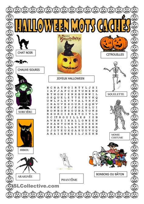 Mots Meles Halloween Anglais