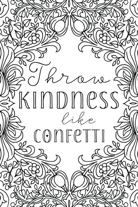 kindness coloring pages pictures whitesbelfast