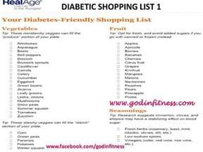 Diabetic Shopping Grocery List