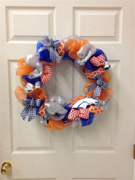unique broncos wreath ideas  pinterest denver