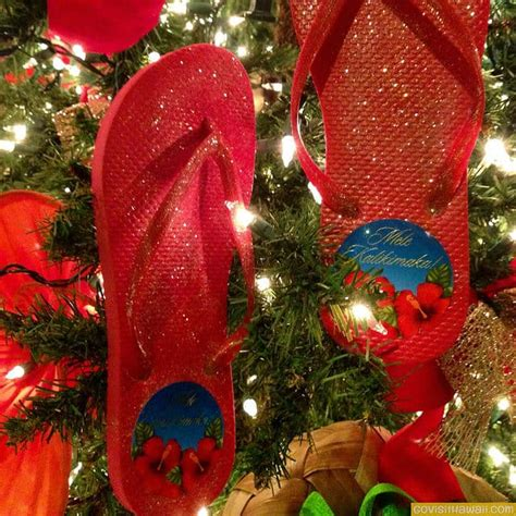 hawaiian style christmas trees and decorations photos go