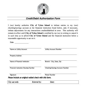 ach credit authorization form fill  printable