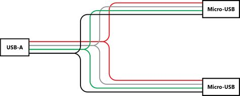 wiring diagram  split micro usb cable electrical