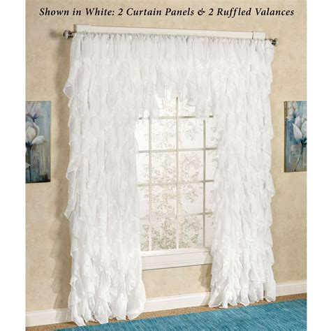 simply shabby chic vertical ruffle window panel cascade curtain panel curtain menzilperde net