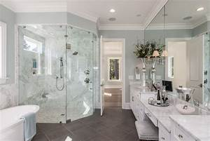 93+ White And Grey Master Bathrooms - Design Ideas For