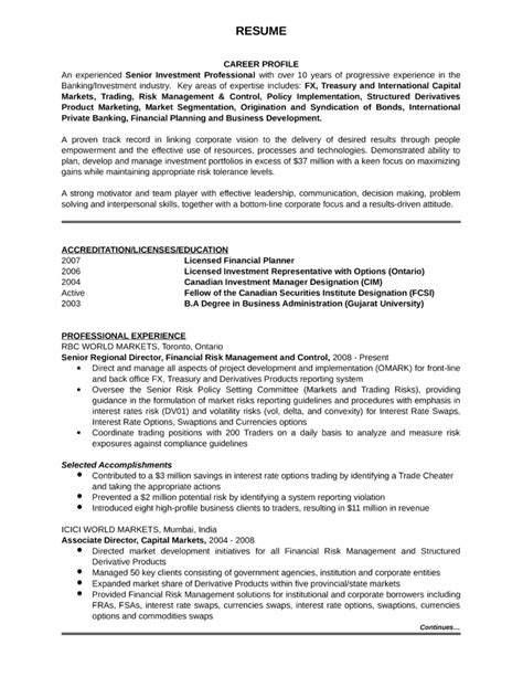 Capital Market Analyst Resume by Professional Investment Analyst Resume Exle Template