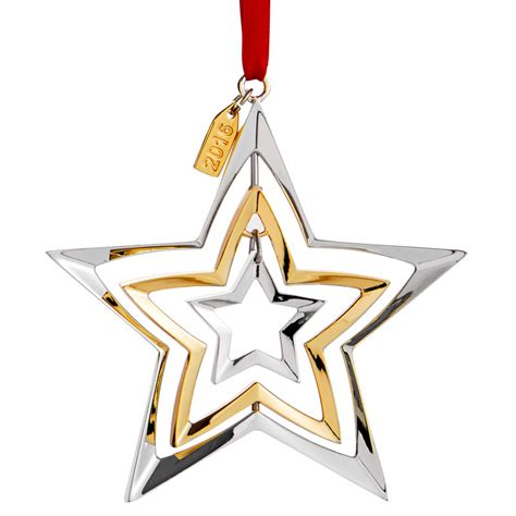 christmas ornaments stars nambe annual ornament 2016 ornament silver superstore