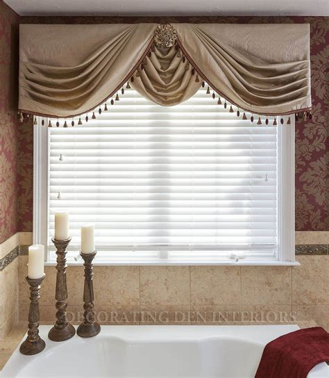 Bathroom Window Valances by Side Swags With Center Swag Choux Valances Bathroom