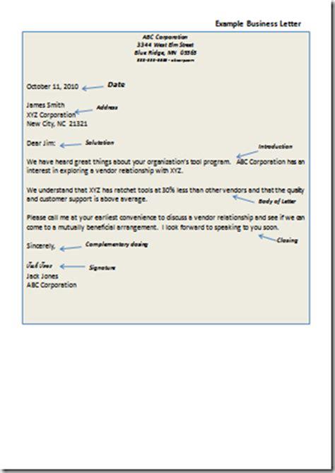 parts   business letter