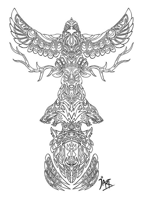 Animal Spirits-My Totem Pole by Wylethorn.deviantart.com