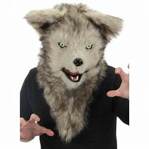 Mouth Mover Mask Wolf - Furry Wolf Mask Elope Cosplay