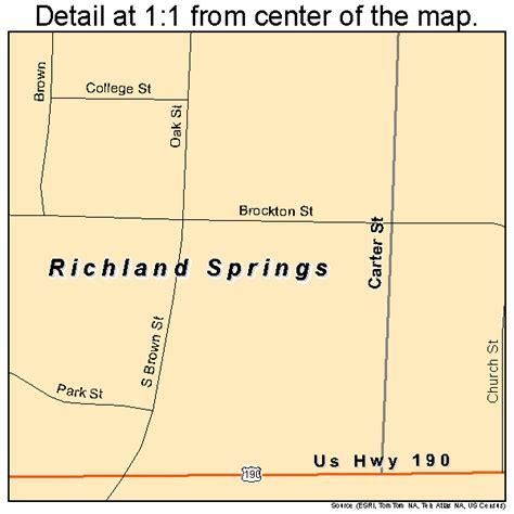 richland tx richland springs texas street map 4861880
