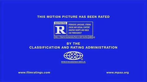 Rated R Mpaa Rating Ids Logo (2013, Comcast Croporation