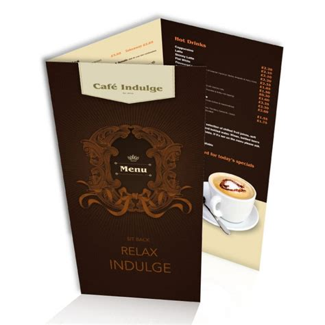 Restaurant Table Menu by Laminated Table Menus Creased A3 A4 A5 Or 3 X A5
