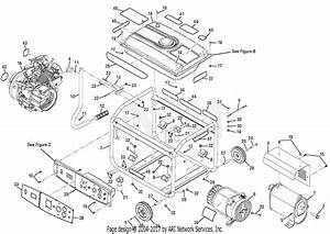 Homelite Bm903650rb 3000 Watt Generator Parts Diagram For