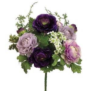 Purple Silk Ranunculus Flowers