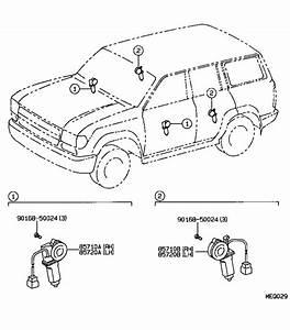 Toyota Land Cruiser Power Window Motor  Right  Rear