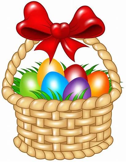 Easter Basket Clipart Clip Transparent Egg Bunny