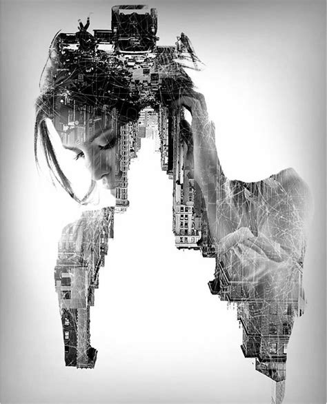 amazing double exposure photography  french