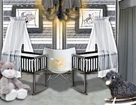 chambre de bébé jumeaux idée déco une chambre de bébé douce et chic pour des