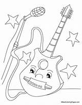 Guitar Coloring Pages Electric Colouring Printable Print Bass Popular Getcoloringpages Coloringhome Boy sketch template