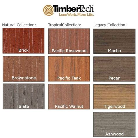 timbertech colors 97 best images about decking on pits