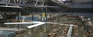 3 hvls industrial ceiling fan applications energylogic With big fans for warehouse