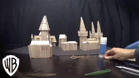 harry potter  list presents hogwarts castle popsicle stick model youtube