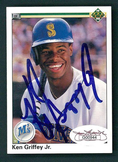 1990 deck ken griffey jr sports memorabilia auction pristine auction