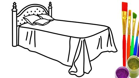 two bedroom how to draw the bed coloring pages for