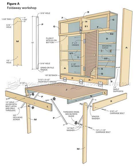 Fold Down Workbench Plans ? WoodArchivist