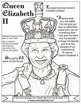 Queen Elizabeth Coloring Pages Drawing Ii Birthday Colouring Sheets Drawings King British Coloringbook Cartoon George Getdrawings Through Results sketch template
