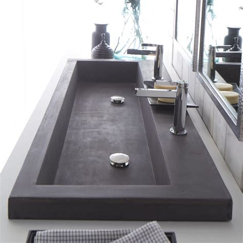 Innovative Kitchen Design Ideas - trough 4819 double basin nativestone bathroom sink native trails
