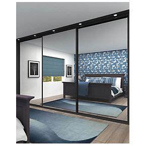 Sliding Wardrobe Closet by Sliding Wardrobe Doors Black Frame Mirror Panel 3 Door