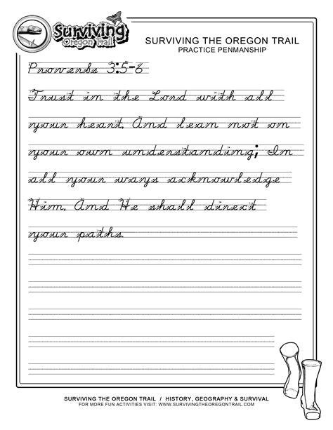 printable handwriting worksheets  grade