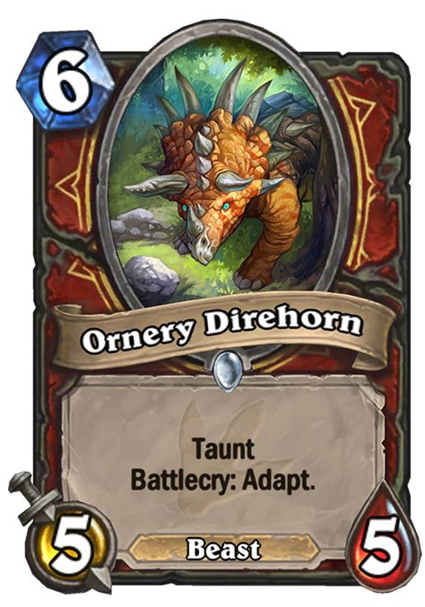 top tier hearthstone decks september 2017 ornery direhorn hearthstone card
