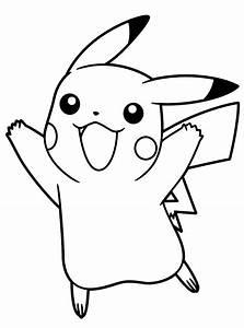 Dibujos Pikachu Para Dibujar Imprimir Colorear Y Recortar Fcilmente