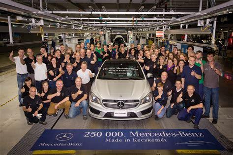 mercedes factory mercedes benz kecskemét factory celerates 250 000th
