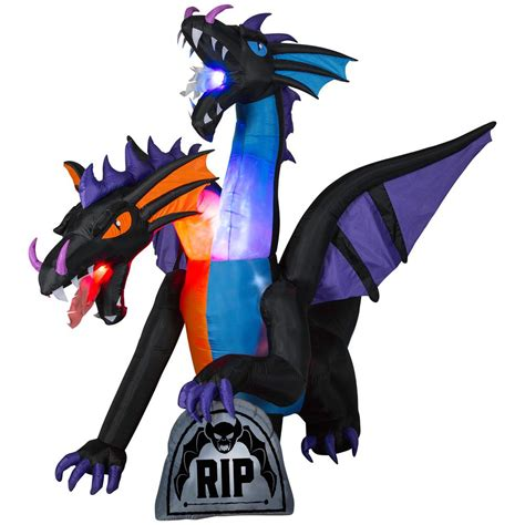 large inflatable airblown dragon halloween haunted house decor prop outdoor led ebay