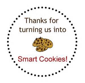 Smart Cookie Teacher Appreciation Gift Tag Printable