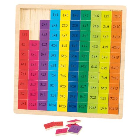 table de multiplication wood n play king jouet premiers apprentissages wood n play jeux et