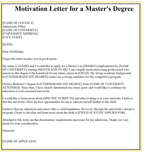 You can write all kinds of motivation letters using this template. Letter of Motivation For Scholarship | Best Letter Templates