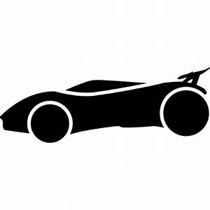 Sportive car frontal silhouette Icons | Free Download