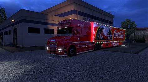 scania   trailer coca cola xmas ets mods